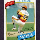 1980 Topps Baseball #050 J.R. Richard - Houston Astros Vg