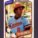 1980 Topps Baseball #043 Bombo Rivera - Minnesota Twins