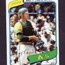 1980 Topps Baseball #034 Jeff Newman - Oakland A's