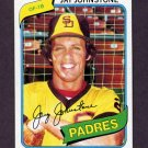 1980 Topps Baseball #031 Jay Johnstone - San Diego Padres