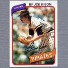 1980 Topps Baseball #028 Bruce Kison - Pittsburgh Pirates Ex