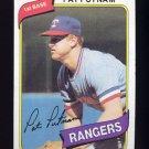 1980 Topps Baseball #022 Pat Putnam - Texas Rangers
