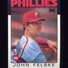 1986 Topps Baseball #621 John Felske MG / Philadelphia Phillies Team Checklist