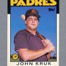 1986 Topps Traded Baseball #056T John Kruk RC - San Diego Padres