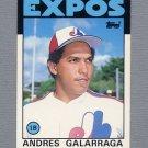 1986 Topps Traded Baseball #040T Andres Galarraga RC - Montreal Expos