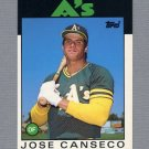 1986 Topps Traded Baseball #020T Jose Canseco RC - Oakland A's