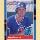 1988 Donruss Baseball #040 Mark Grace RC - Chicago Cubs