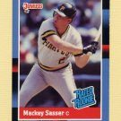 1988 Donruss Baseball #028 Mackey Sasser RC - Pittsburgh Pirates