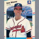 1988 Fleer Update Baseball #070 Jose Alvarez RC - Atlanta Braves