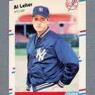 1988 Fleer Update Baseball #049 Al Leiter RC - New York Yankees