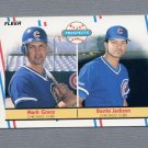 1988 Fleer Baseball #641 Mark Grace RC / Darrin Jackson - Chicago Cubs