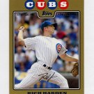 2008 Topps Update Gold Border Baseball #UH275 Rich Harden - Chicago Cubs /2008