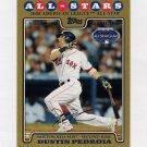 2008 Topps Update Gold Border Baseball #UH047 Dustin Pedroia - Boston Red Sox /2008