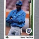 1989 Upper Deck Baseball #301 Darryl Hamilton RC - Milwaukee Brewers