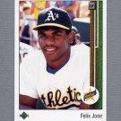 1989 Upper Deck Baseball #022 Felix Jose RC - Oakland A's