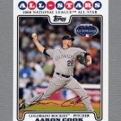 2008 Topps Update Baseball #UH286 Aaron Cook AS - Colorado Rockies
