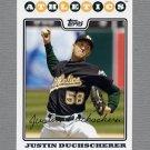 2008 Topps Update Baseball #UH270 Justin Duchscherer - Oakland A's