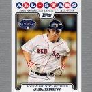 2008 Topps Update Baseball #UH221 J.D. Drew AS - Boston Red Sox