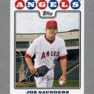 2008 Topps Update Baseball #UH210 Joe Saunders - Los Angeles Angels