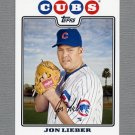 2008 Topps Update Baseball #UH139 Jon Lieber - Chicago Cubs