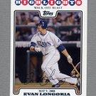 2008 Topps Update Baseball #UH137 Evan Longoria HL - Tampa Bay Rays