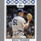 2008 Topps Update Baseball #UH114 Billy Traber - New York Yankees