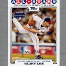 2008 Topps Update Baseball #UH059 Cliff Lee AS - Cleveland Indians