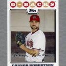 2008 Topps Update Baseball #UH037 Connor Robertson - Arizona Diamondbacks