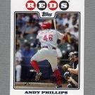 2008 Topps Update Baseball #UH018 Andy Phillips - Cincinnati Reds