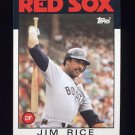 1986 Topps Baseball #320 Jim Rice - Boston Red Sox