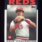 1986 Topps Baseball #195 Dave Concepcion - Cincinnati Reds