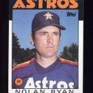 1986 Topps Baseball #100 Nolan Ryan - Houston Astros