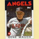 1986 Topps Baseball #081 Gene Mauch MG / California Angels Team Checklist