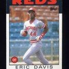 1986 Topps Baseball #028 Eric Davis - Cincinnati Reds ExMt