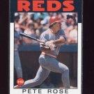 1986 Topps Baseball #001 Pete Rose - Cincinnati Reds