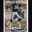 1994 Topps Special Effects Football #091 Terry McDaniel - Los Angeles Raiders
