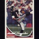 1994 Topps Special Effects Football #021 Harold Alexander - Atlanta Falcons