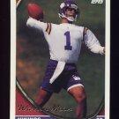 1994 Topps Football #027 Warren Moon - Minnesota Vikings