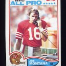 1982 Topps Football #488 Joe Montana - San Francisco 49ers