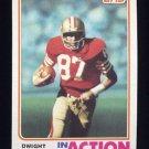 1982 Topps Football #479 Dwight Clark IA - San Francisco 49ers