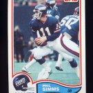 1982 Topps Football #433 Phil Simms - New York Giants