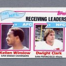 1982 Topps Football #258 Kellen Winslow / Dwight Clark / Receiving Leaders ExMt