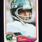 1982 Topps Football #173 Pat Leahy - New York Jets