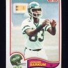 1982 Topps Football #163 Jerome Barkum - New York Jets