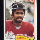 1982 Topps Football #156 Stanley Morgan - New England Patriots