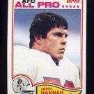 1982 Topps Football #150 John Hannah - New England Patriots