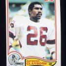 1982 Topps Football #145 Raymond Clayborn - New England Patriots