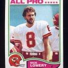 1982 Topps Football #120 Nick Lowery - Kansas City Chiefs