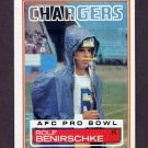 1983 Topps Football #371 Rolf Benirschke - San Diego Chargers
