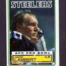 1983 Topps Football #363 Jack Lambert - Pittsburgh Steelers NM-M
